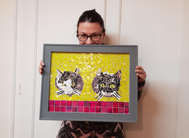 Mozaik Mačke po fotografiji