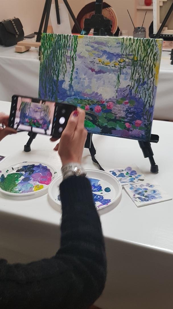 Slikanje na platnu Monet