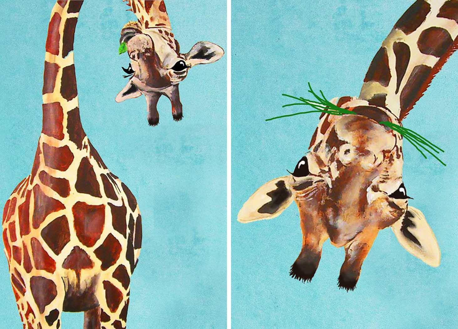 Roditelji i deca slikaju_Šašave žirafe