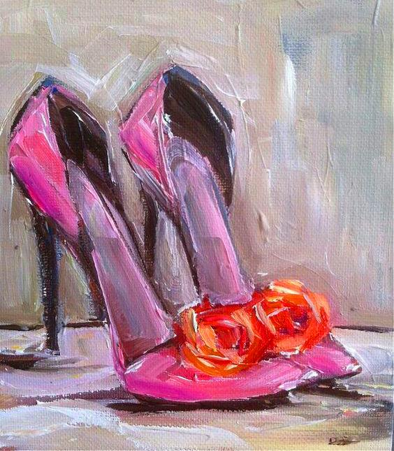 Paint & Relax_Slikanje na platnu_Cipele