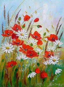 Paint & Relax_Slikanje na platnu_Cveće