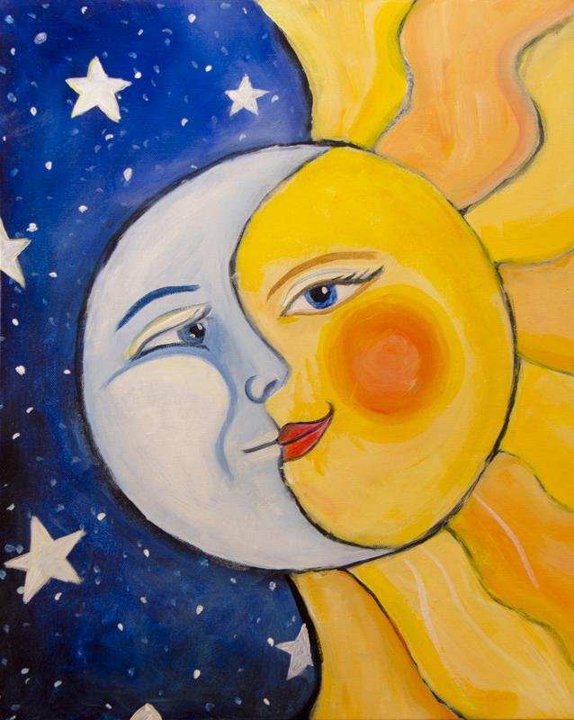 Paint & Relax_Slikanje na platnu_Dan i noć