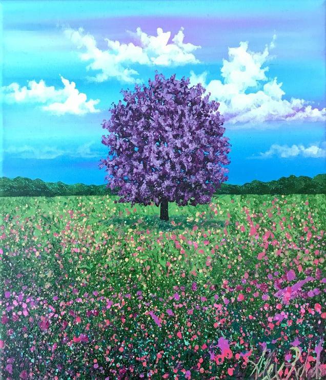 Paint & Relax_Slikanje na platnu_Drvo