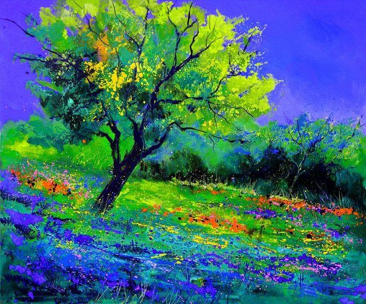 Paint & Relax_Slikanje na platnu_Pejzaž