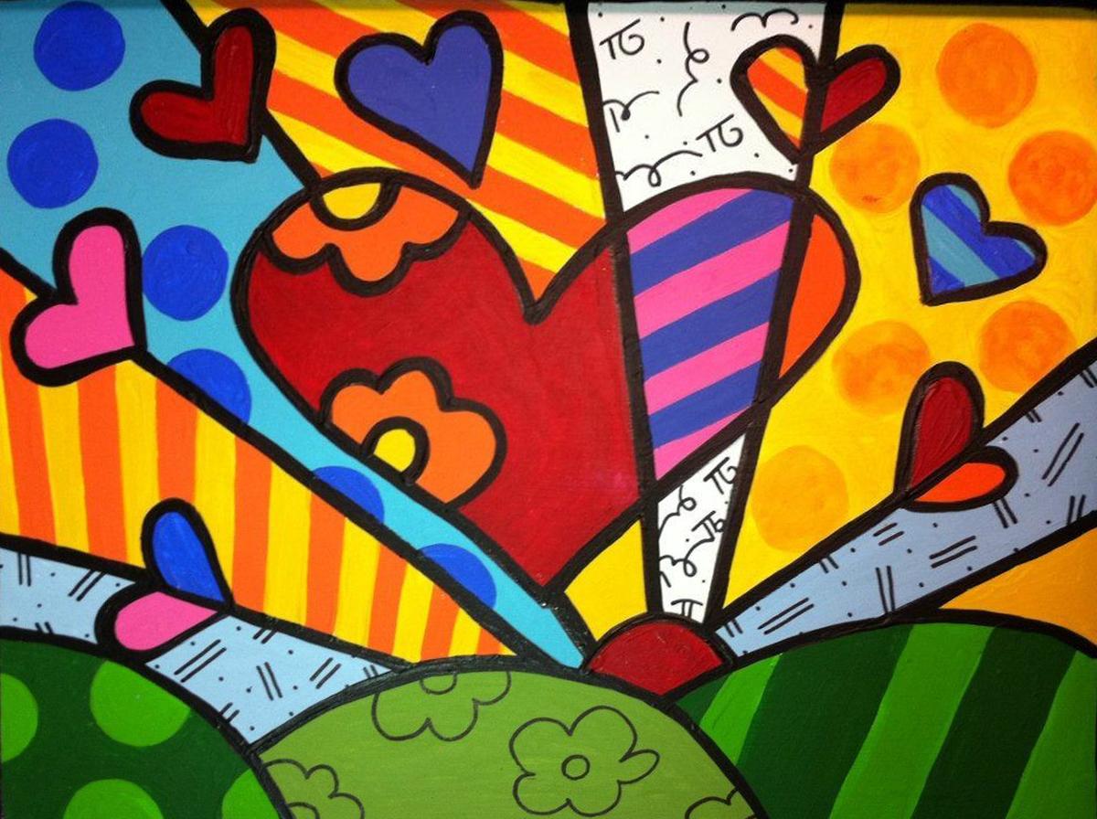 Paint & Relax_Slikanje na platnu_Srca