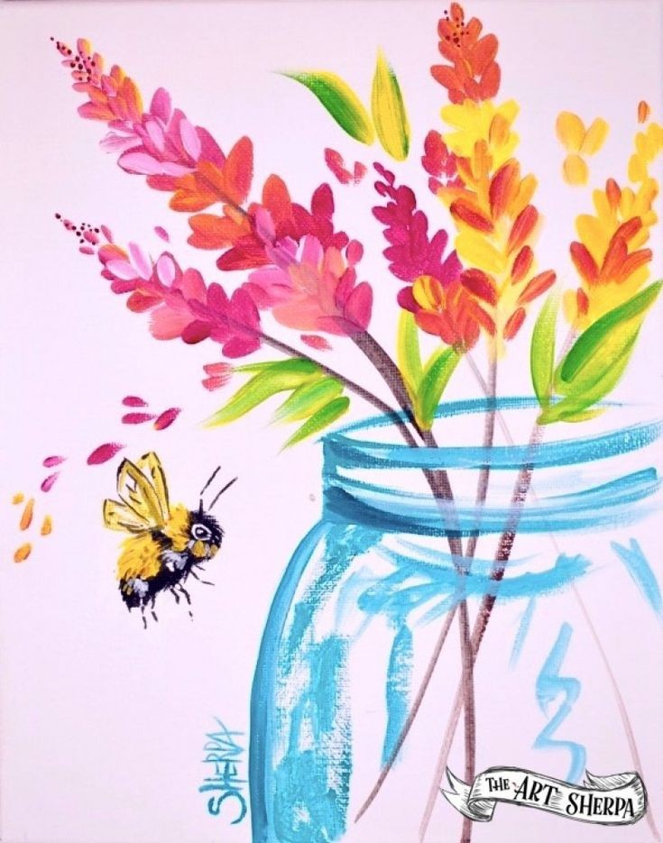 Paint & Relax_Slikanje na platnu_Tegla
