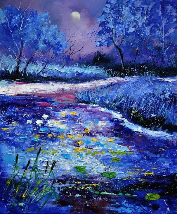 Paint & Relax Plavi pejzaž