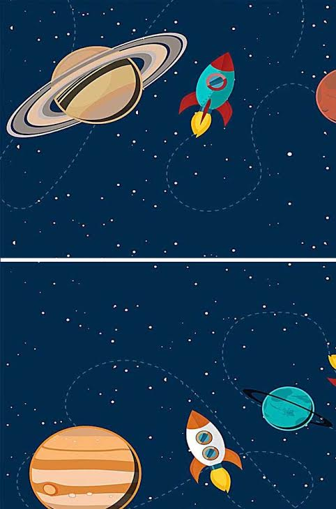 Roditelji i deca slikaju Kosmos
