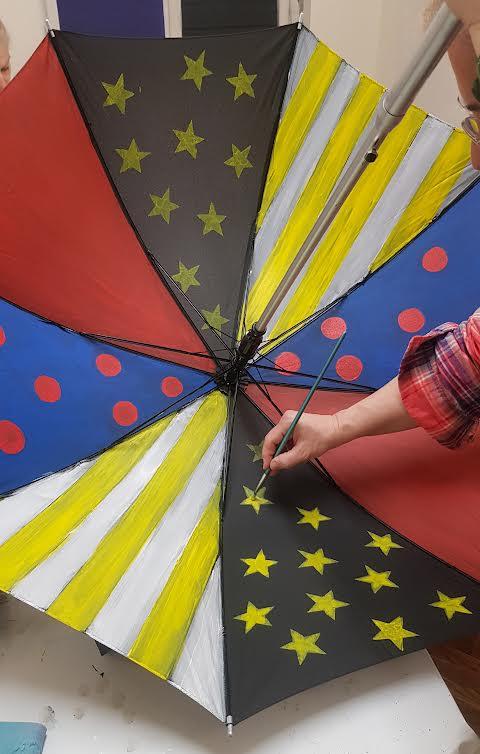 Slikanje na kišobranu