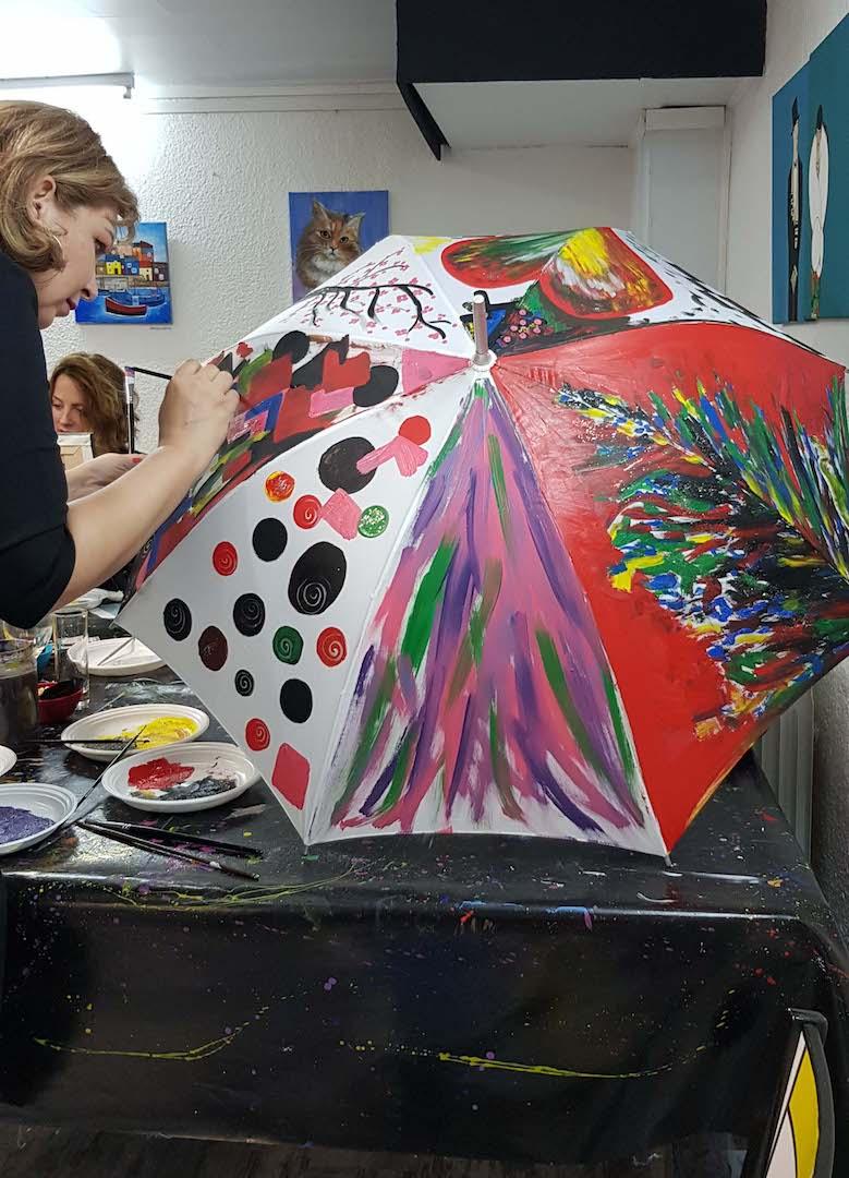Slikanje na kišobranima