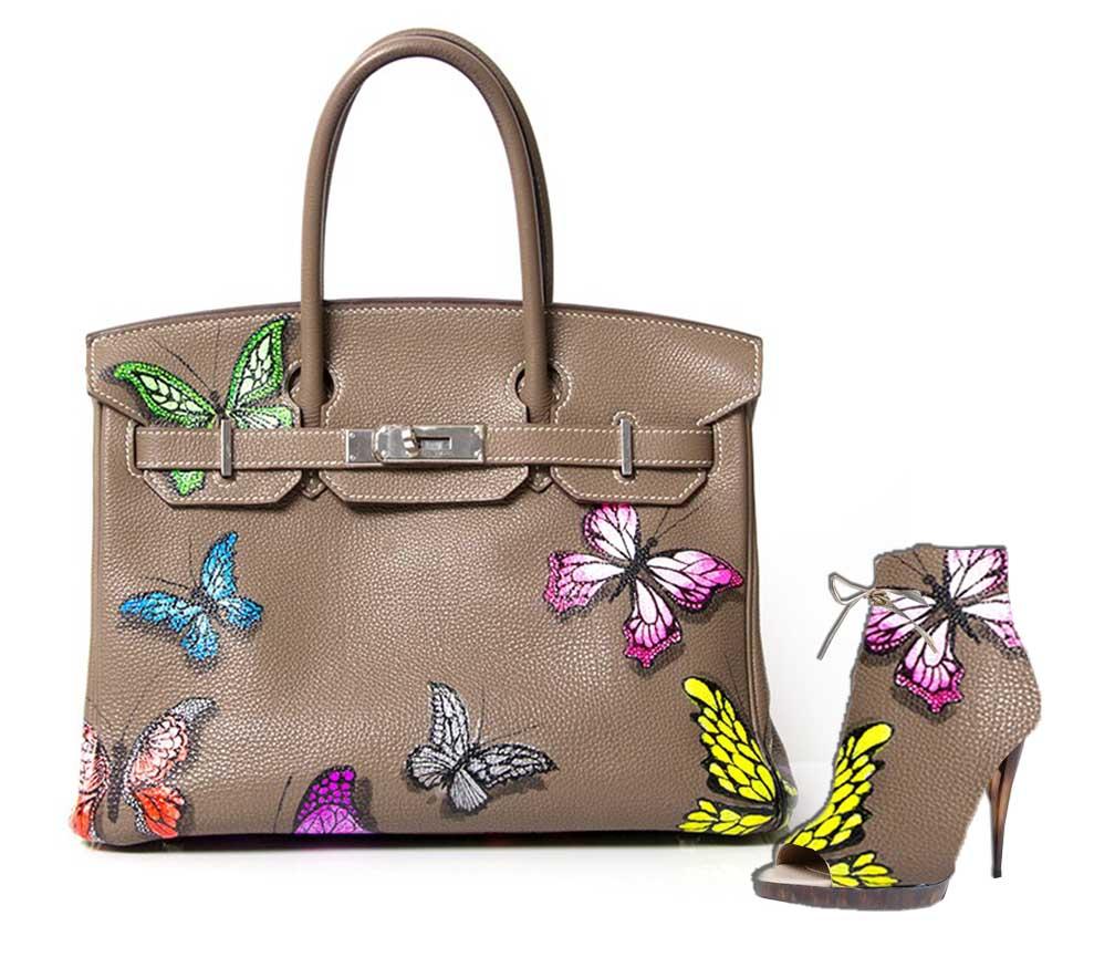 Oslikaj svoju torbu ili cipele_Leptiri